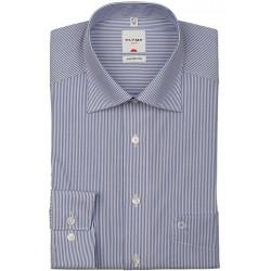 OLYMP Comfort Fit košeľa dlhý rukáv modrá/biela
