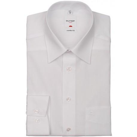 OLYMP Comfort Fit Kent košeľa biela s predĺženým/skráteným rukávom