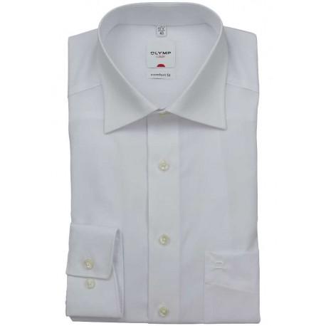OLYMP Comfort Fit New Kent košeľa biela, skrátený/predĺžený rukáv