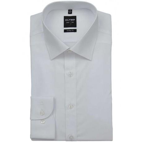 OLYMP New York Kent Body Fit košeľa, dlhý rukáv, Stretch Uni biela
