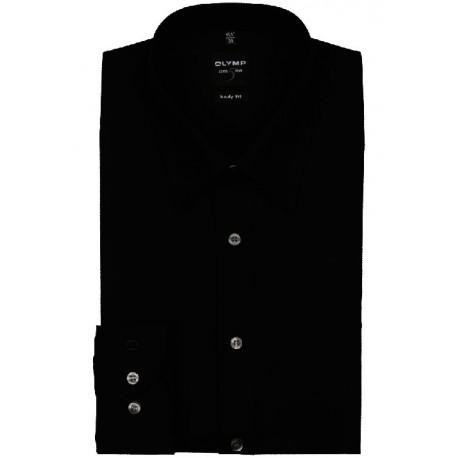 OLYMP New York Kent Body Fit Stretch košeľa Uni čierna