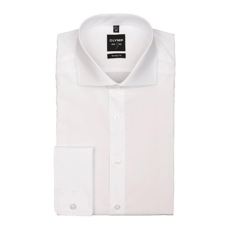 64b2920d40e3 OLYMP Haifisch Body Fit Stretch košeľa Uni biela - Carlo design ...