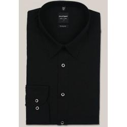 OLYMP New York Kent Body Fit Stretch košeľa čierna s predĺženým rukávom (69 cm)