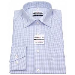Košeľa Marvelis Comfort fit Chambray Modro-biela kocka - New Kent