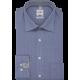 Košeľa Olymp New Kent Comfort Fit tmavomodro-biela kockovaná