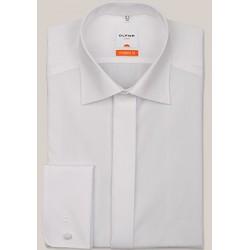 Košeľa Olymp New Kent Modern Fit Uni biela s predĺženým rukávom a skrytými gombíkmi