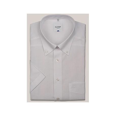 Košeľa Olymp Button-Down Regular Fit biela s krátkym rukávom
