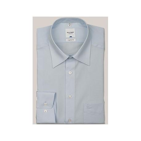 Košeľa Olymp Kent Regular Fit Uni bledomodrá s dlhým rukávom