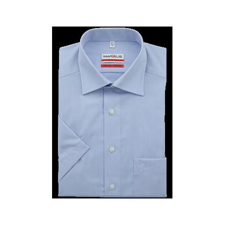Košeľa Marvelis Modern Fit Chambray svetlomodrá s krátkym rukávom