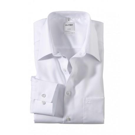Košeľa Olymp Luxor Comfort Fit Kent biela