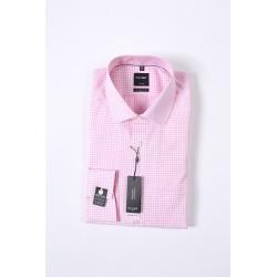 Košela Olymp Luxor Modern Fit Non - iron, ružová vzorkovaná, 100% bavlna