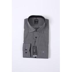 Košela Olymp Luxor Modern Fit Non - iron, čiernobiela vzorkovaná, 100% bavlna