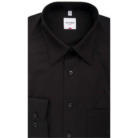 Košeľa Olymp Luxor Comfort Fit čierna - Kent
