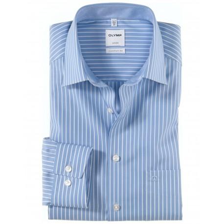 NOVINKA Košela Olymp Luxor Comfort Fit , modrá prúžkovaná