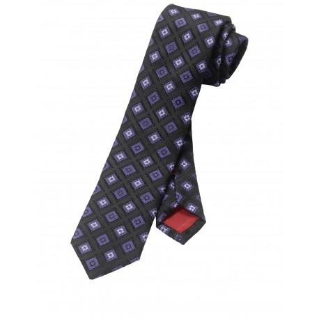 Kravata Olymp, fialovo čierna vzorkovaná