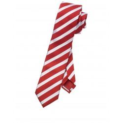 Kravata Olymp, červená pásiková