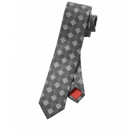 Kravata Olymp, šedá vzorkovaná