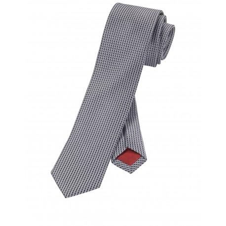 Kravata Olymp, čierno biela vzorkovaná