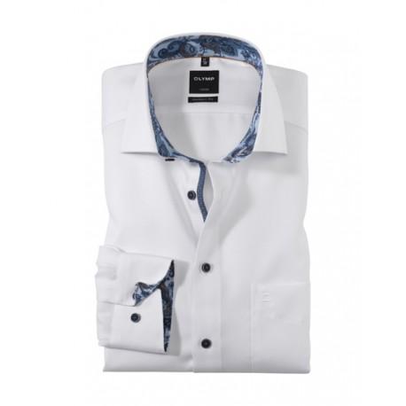 Košeľa OLYMP Luxor modern fit Global Kent - biela